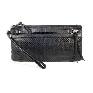 BANANA REPUBLIC Perforated Leather Clutch Wristlet